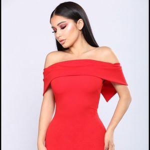 Penthouse Suite Red Bardot Maxi Dress